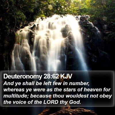 Deuteronomy 28:62 KJV Bible Verse Image