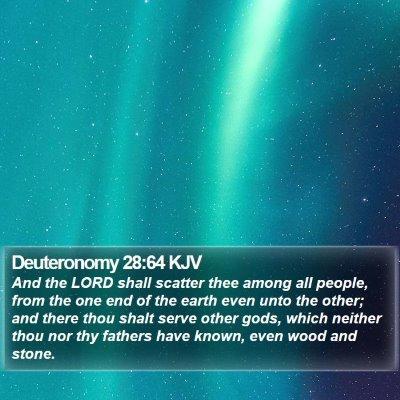 Deuteronomy 28:64 KJV Bible Verse Image