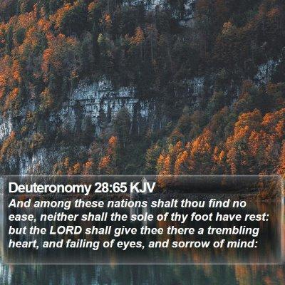 Deuteronomy 28:65 KJV Bible Verse Image