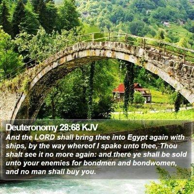 Deuteronomy 28:68 KJV Bible Verse Image