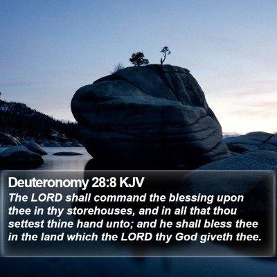 Deuteronomy 28:8 KJV Bible Verse Image