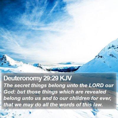 Deuteronomy 29:29 KJV Bible Verse Image