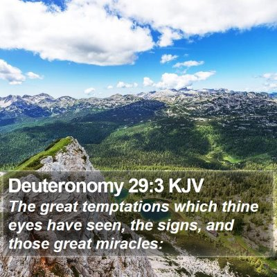 Deuteronomy 29:3 KJV Bible Verse Image