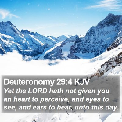 Deuteronomy 29:4 KJV Bible Verse Image