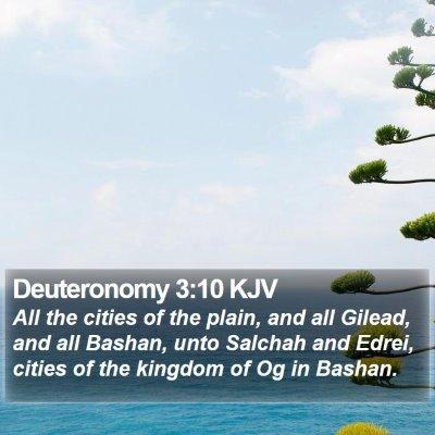 Deuteronomy 3:10 KJV Bible Verse Image