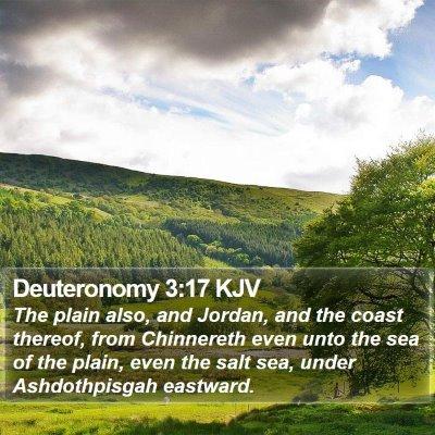 Deuteronomy 3:17 KJV Bible Verse Image