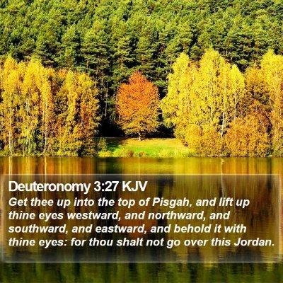 Deuteronomy 3:27 KJV Bible Verse Image