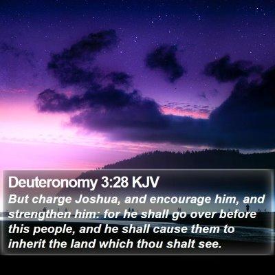 Deuteronomy 3:28 KJV Bible Verse Image