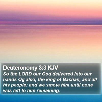 Deuteronomy 3:3 KJV Bible Verse Image