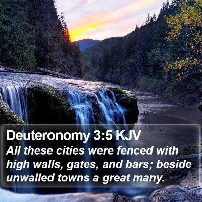 Deuteronomy 3:5 KJV Bible Verse Image