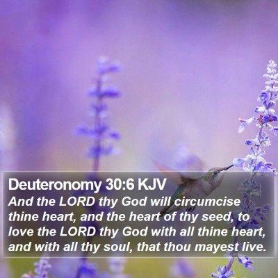Deuteronomy 30:6 KJV Bible Verse Image