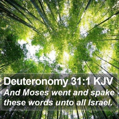 Deuteronomy 31:1 KJV Bible Verse Image