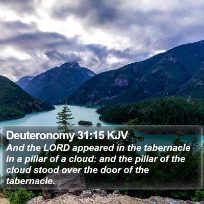 Deuteronomy 31:15 KJV Bible Verse Image