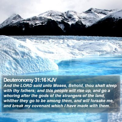 Deuteronomy 31:16 KJV Bible Verse Image