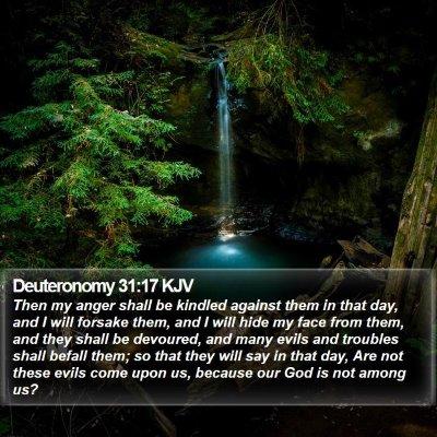 Deuteronomy 31:17 KJV Bible Verse Image