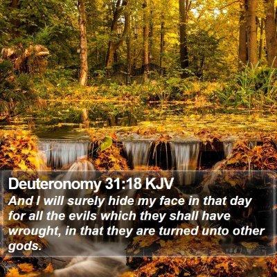 Deuteronomy 31:18 KJV Bible Verse Image