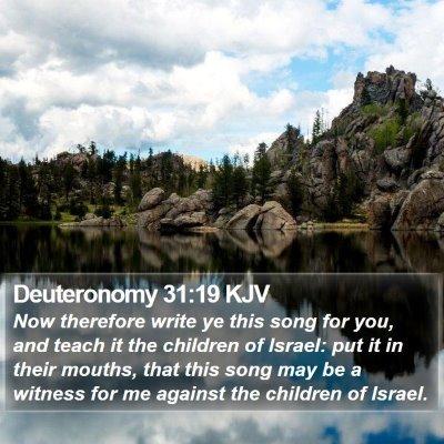 Deuteronomy 31:19 KJV Bible Verse Image