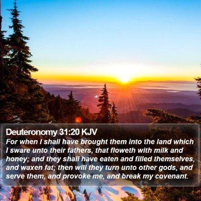 Deuteronomy 31:20 KJV Bible Verse Image