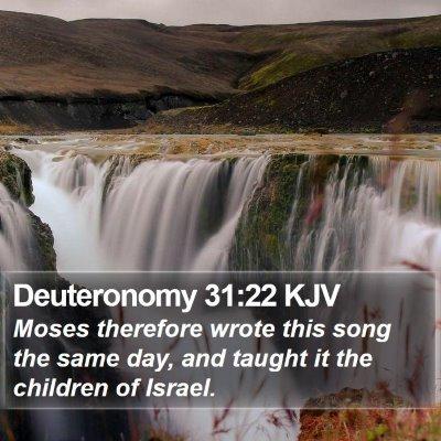 Deuteronomy 31:22 KJV Bible Verse Image