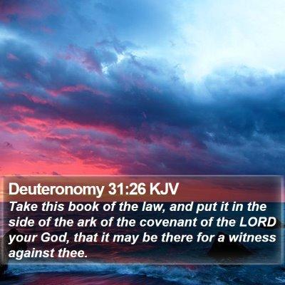 Deuteronomy 31:26 KJV Bible Verse Image