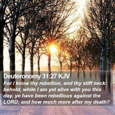 Deuteronomy 31:27 KJV Bible Verse Image