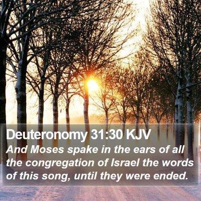 Deuteronomy 31:30 KJV Bible Verse Image