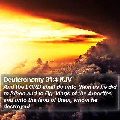 Deuteronomy 31:4 KJV Bible Verse Image