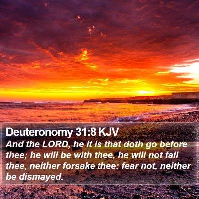 Deuteronomy 31:8 KJV Bible Verse Image