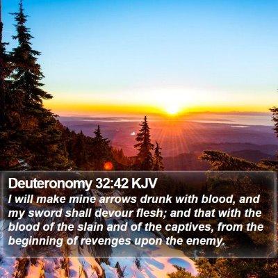 Deuteronomy 32:42 KJV Bible Verse Image