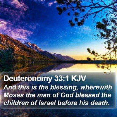 Deuteronomy 33:1 KJV Bible Verse Image