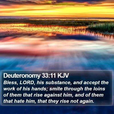 Deuteronomy 33:11 KJV Bible Verse Image