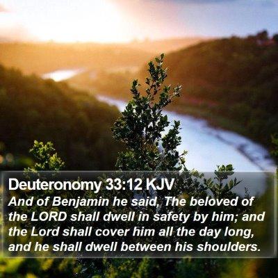 Deuteronomy 33:12 KJV Bible Verse Image