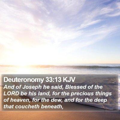 Deuteronomy 33:13 KJV Bible Verse Image