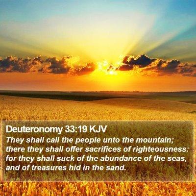 Deuteronomy 33:19 KJV Bible Verse Image