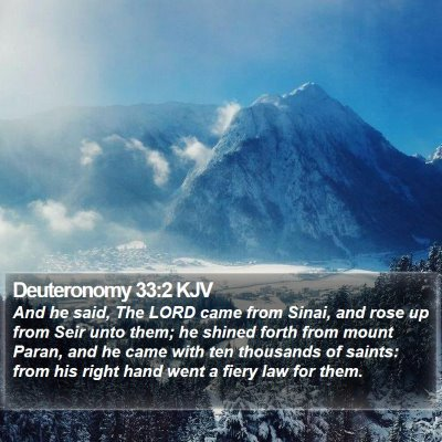 Deuteronomy 33:2 KJV Bible Verse Image
