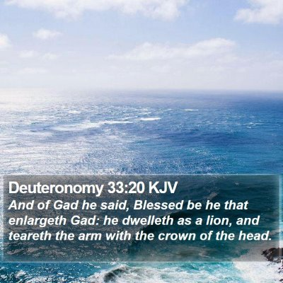 Deuteronomy 33:20 KJV Bible Verse Image