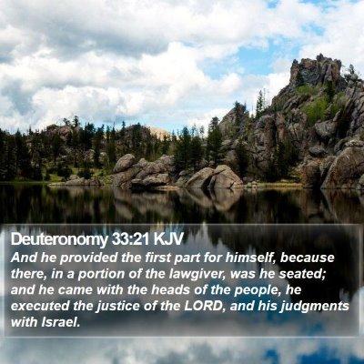 Deuteronomy 33:21 KJV Bible Verse Image