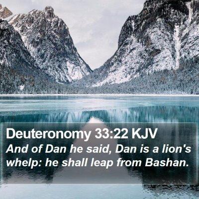 Deuteronomy 33:22 KJV Bible Verse Image