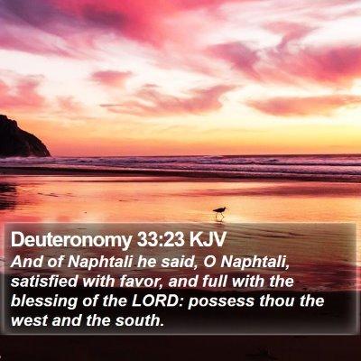Deuteronomy 33:23 KJV Bible Verse Image