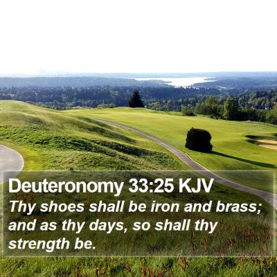 Deuteronomy 33:25 KJV Bible Verse Image