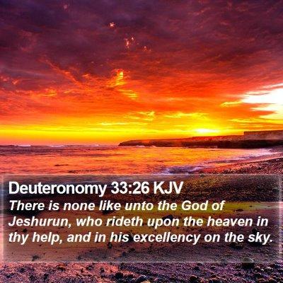 Deuteronomy 33:26 KJV Bible Verse Image