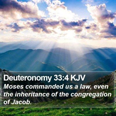 Deuteronomy 33:4 KJV Bible Verse Image
