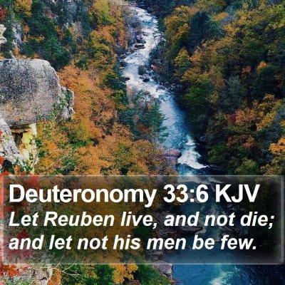 Deuteronomy 33:6 KJV Bible Verse Image