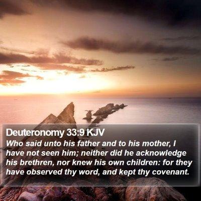 Deuteronomy 33:9 KJV Bible Verse Image