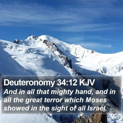 Deuteronomy 34:12 KJV Bible Verse Image