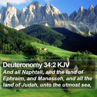 Deuteronomy 34:2 KJV Bible Verse Image