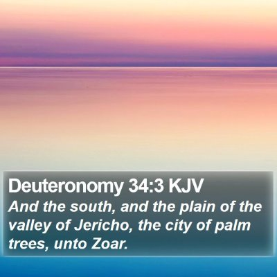 Deuteronomy 34:3 KJV Bible Verse Image