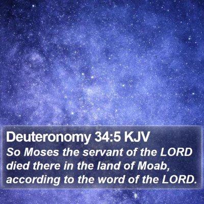 Deuteronomy 34:5 KJV Bible Verse Image
