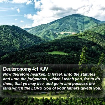 Deuteronomy 4:1 KJV Bible Verse Image