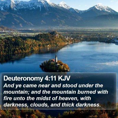 Deuteronomy 4:11 KJV Bible Verse Image